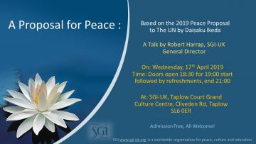 PROPOSAL FOR PEACE TAPLOW COURT WEDNESDAY 17th APRIL 2019